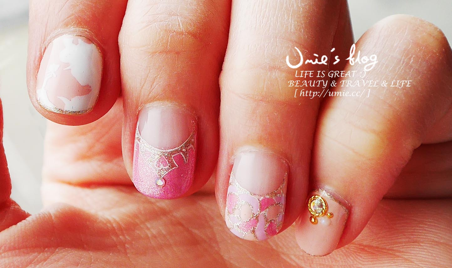台北中山捷運站指甲光療-東京迪士尼圓夢旅行!睡美人 Sleeping Beauty 系列!