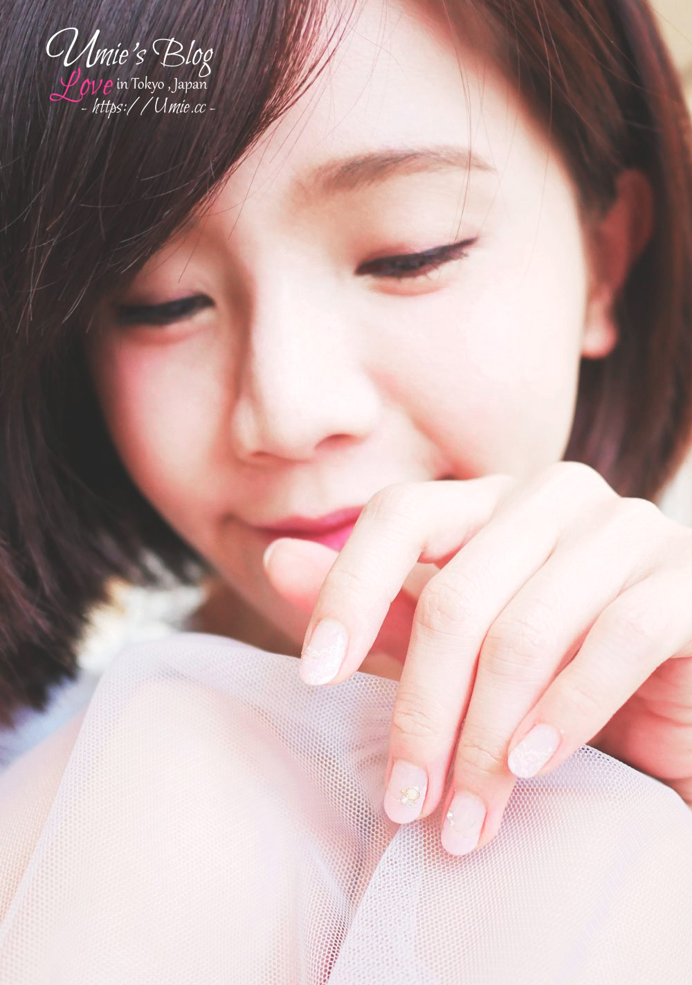 中山捷運指甲光療推薦|我的訂婚式,發喜餅指甲設計!裸粉色手繪蕾絲法式光療 :)