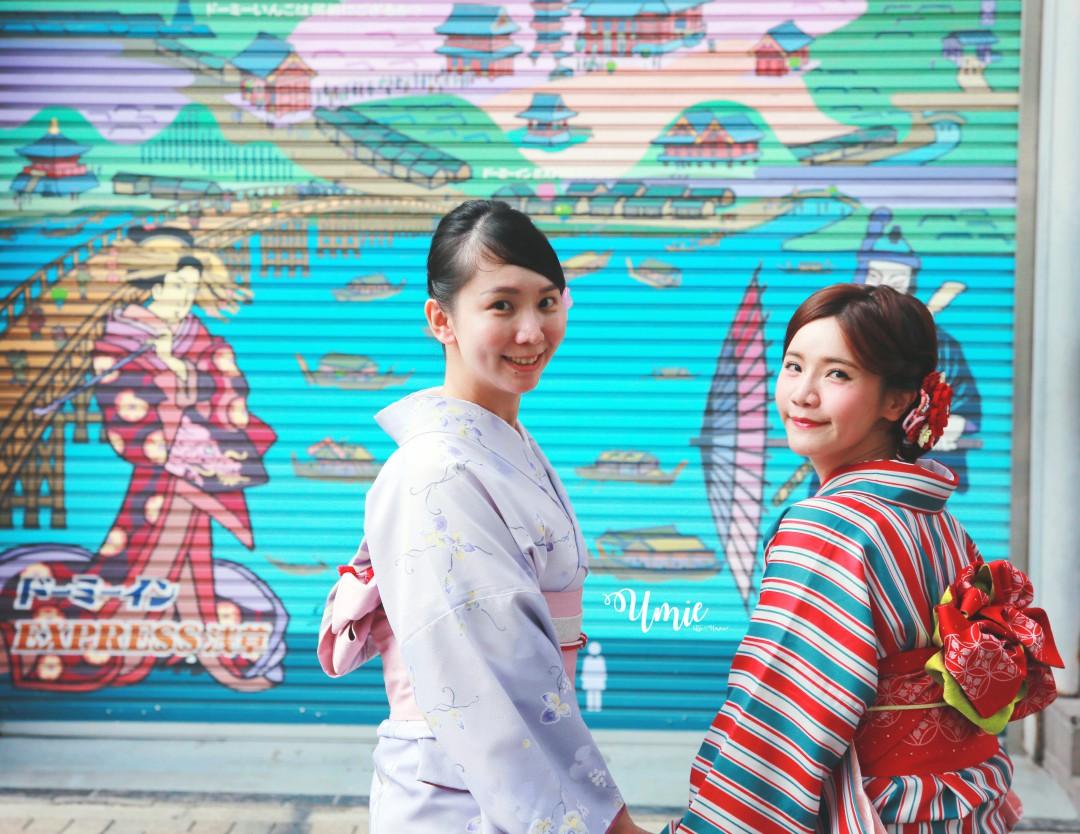 東京淺草寺穿和服體驗| 淺草愛和服二訪!超便宜!包含免費頭髮造型、免費頭飾!