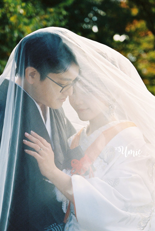 日本和服婚紗色打掛|彩色底片婚紗照 (婚紗公司: CULWA Bridals Photo Wedding, 攝影師: 小貓 )