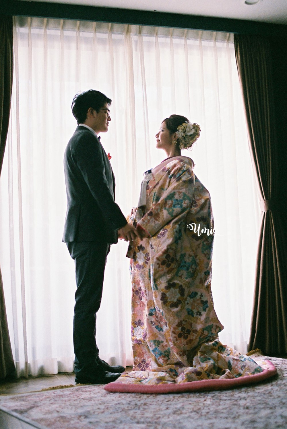 日本和服婚紗色打掛|彩色底片婚紗照 (婚紗公司: CULWA Bridals Photo Wedding, 攝影師: 小貓 )