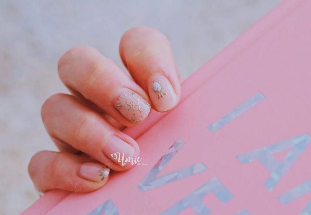 台北中山區光療指甲推薦 |Venus Nail美甲工坊| 金屬膠手繪圖騰,我的微美春夏指尖 :)