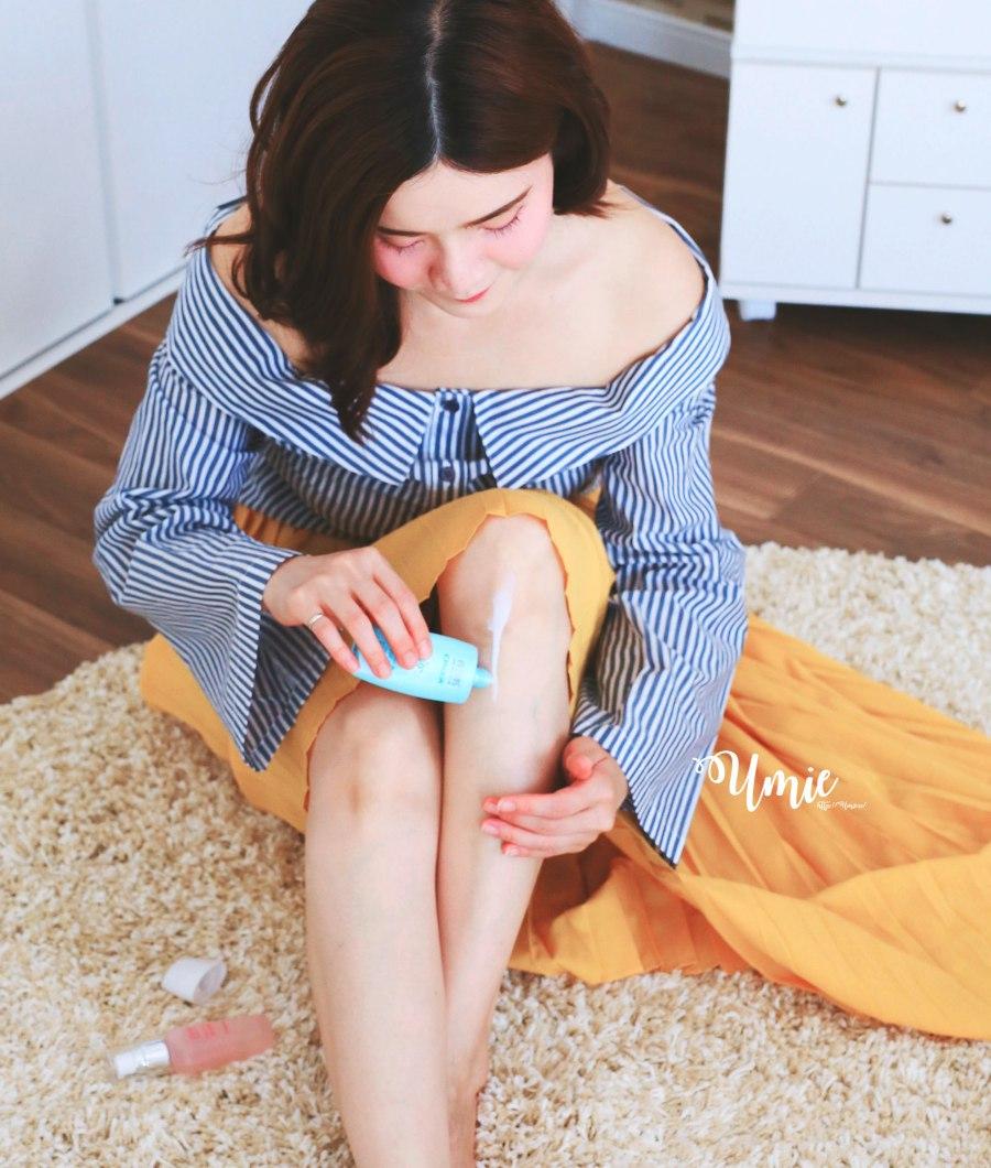防曬乳液推薦|不泛白不粘膩好沖洗!夏天的白皙膚色就靠「自白肌 玻尿酸涼感 防曬乳液 SPF50+」保護!