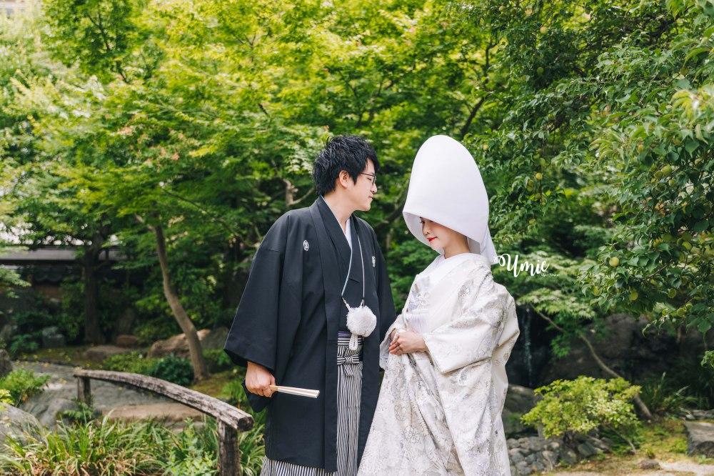 日本神前式傳統神社婚禮|台日國際結婚|白無垢| 湯島天滿神宮的神前式結婚 ( 造型 婚禮前記事 )