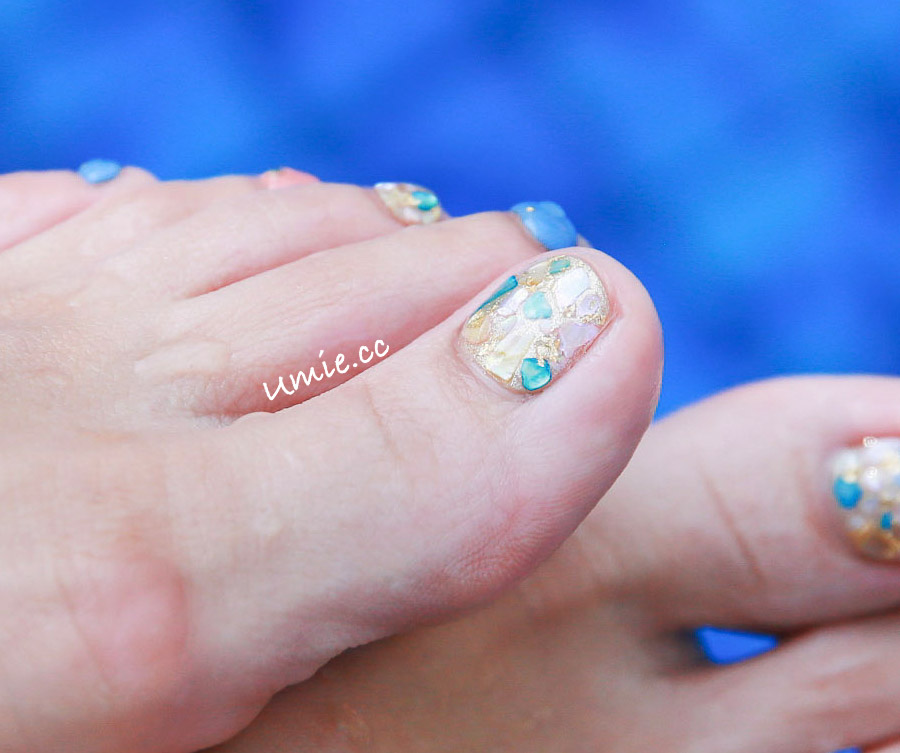 台北中山區光療指甲推薦 |海島度假光療!屬於我的金色沙灘和蔚藍的海 Nail Me by venus nail salon