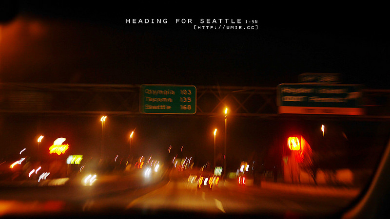 2014 RoadTrip- SanFrancisco (CA) to Seattle (WA) View of I-5N