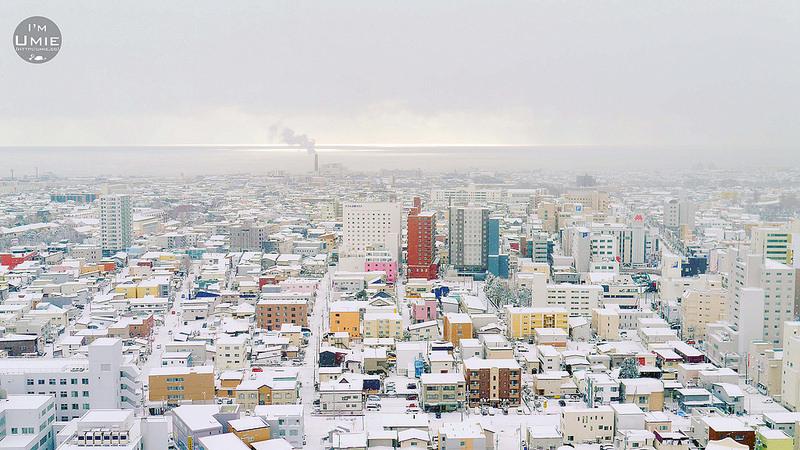 Hakodate,Hokkaido,Japan 日本北海道函館 函館朝市/ 五稜郭觀景塔