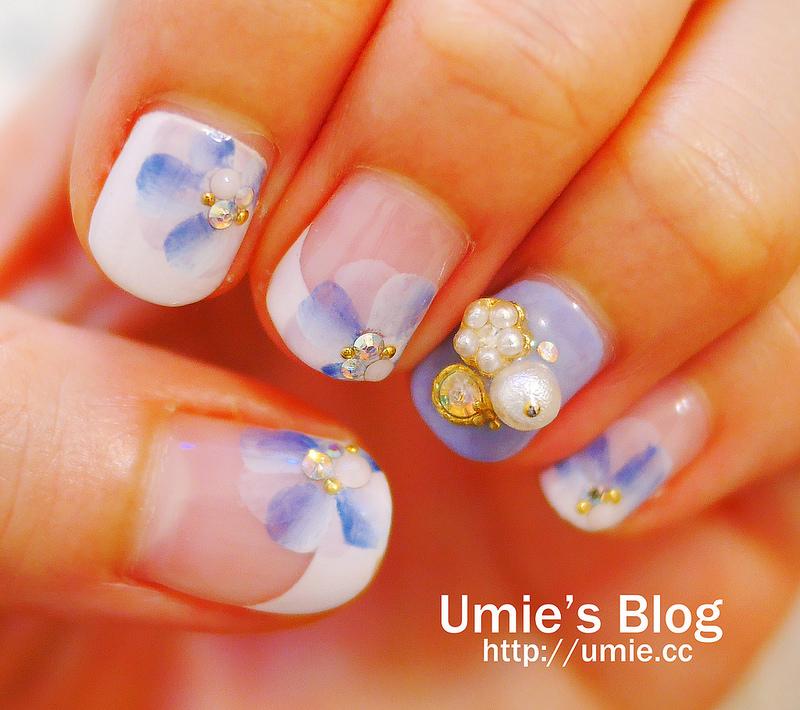 20150829 Venus nail/指甲光療/手足保養/水晶指甲/花卉光療